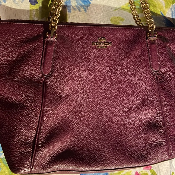 Coach burgundy bag